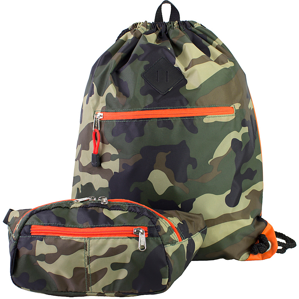 Eastsport Absolute Sport Belt Bag and Drawstring Bundle Camo Eastsport Slings