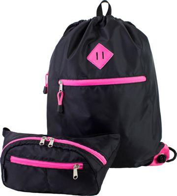 Eastsport Absolute Sport Belt Bag and Drawstring Bundle Pink Sizzle - Eastsport Slings