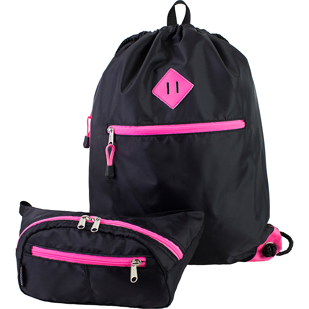Eastsport Absolute Sport Belt Bag and Drawstring Bundle Pink Sizzle Eastsport Slings