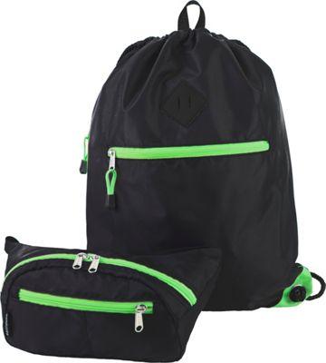 Eastsport Absolute Sport Belt Bag and Drawstring Bundle Lime Sizzle - Eastsport Slings