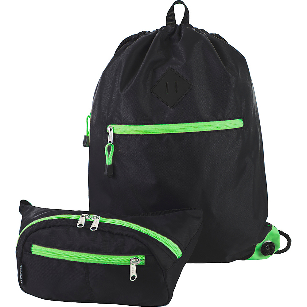 Eastsport Absolute Sport Belt Bag and Drawstring Bundle Lime Sizzle Eastsport Slings