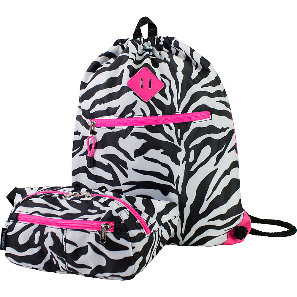 Eastsport Absolute Sport Belt Bag and Drawstring Bundle Zebra Eastsport Slings