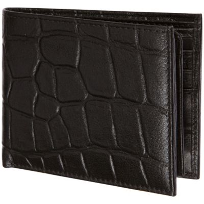 Image of Access Denied Men's RFID Blocking Wallet Genuine Italian Leather Black Alligator - Access Denied Mens Wallets