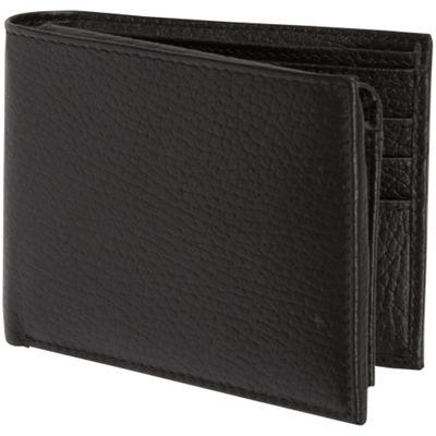 Access Denied Men's RFID Blocking Wallet Genuine Italian Leather Black Pebble - Access Denied Men's Wallets