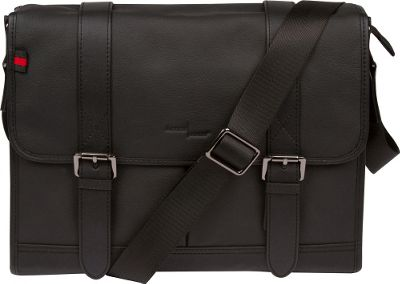 Image of Access Denied Men's RFID Blocking Leather Messenger Bag 'Eagle' Black - Access Denied Non-Wheeled Business Cases