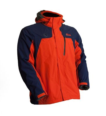 My Core Control Mens Heated Ski Jacket L - Blue/Orange - My Core Control Men's Apparel