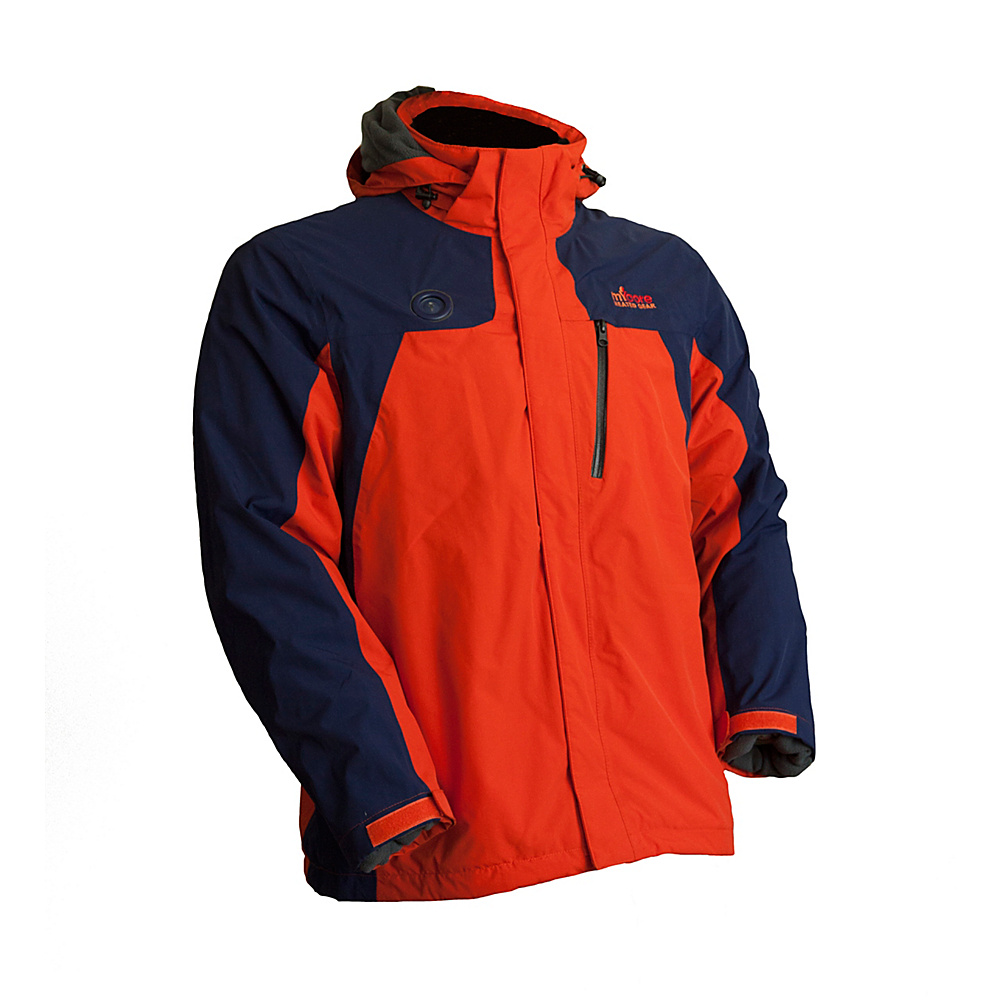 My Core Control Mens Heated Ski Jacket 2XL Blue Orange My Core Control Men s Apparel