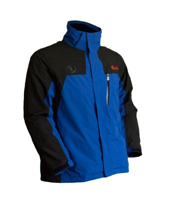 My Core Control Mens Heated Ski Jacket L - Black/Blue - My Core Control Men's Apparel
