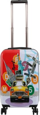 Triforce Francisco Ceron Pop Art New York 22 inch Carry-On Spinner Luggage New York - Triforce Softside Carry-On