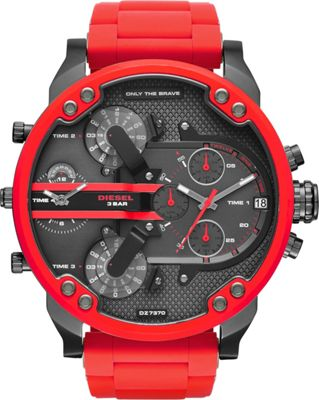 Diesel Watches Mr. Daddy 2.0 Two Hand Stainless Steel Watch Red - Diesel Watches Watches