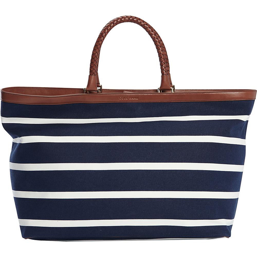 ba71652242 $300.00 More Details · Cole Haan Pinch Tote Blazer Blue/Ivory Stripe - Cole  Haan Designer Handbags