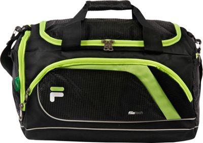 Fila Advantage Small Sport Duffel Bag Black/Lime - Fila Gym Duffels