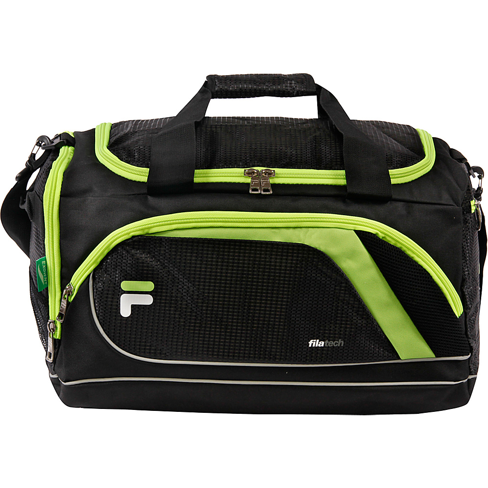 Fila Advantage Small Sport Duffel Bag Black Lime Fila Gym Duffels