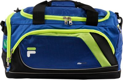 Fila Advantage Small Sport Duffel Bag Blue/Lime - Fila Gym Duffels