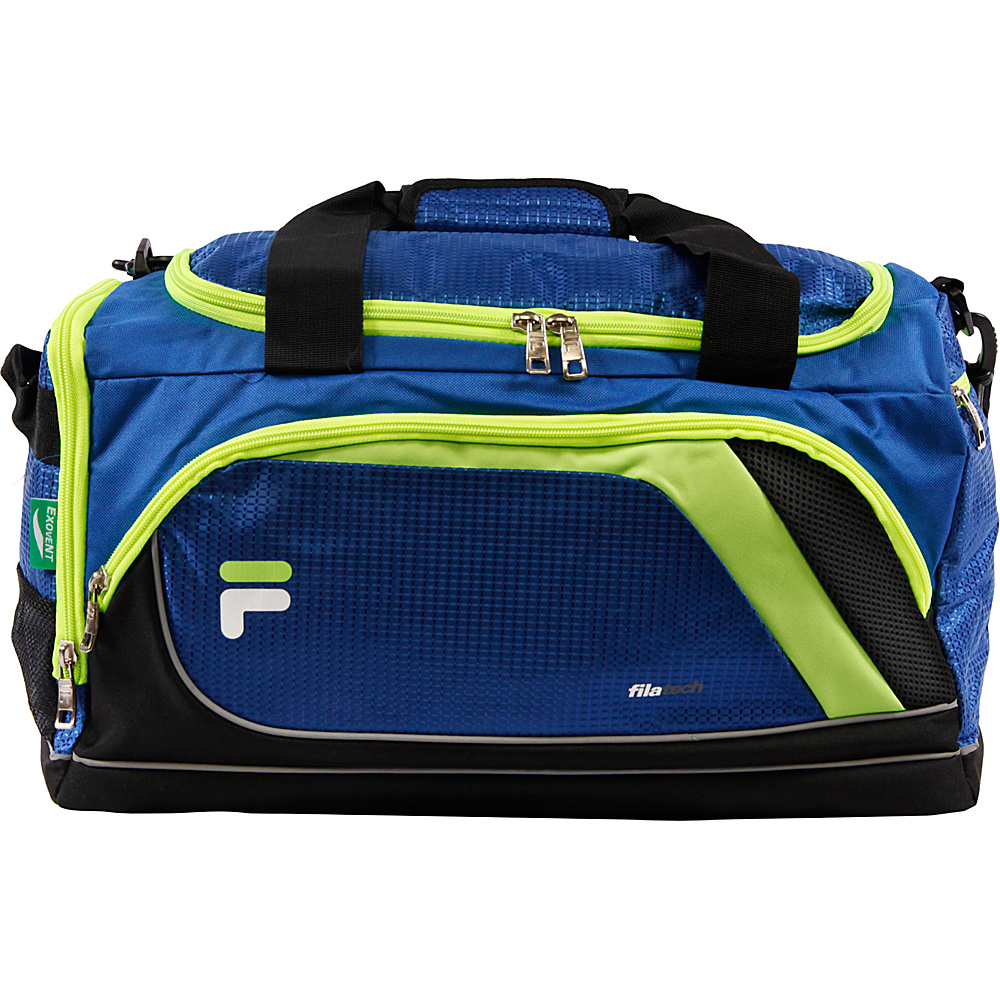 Fila Advantage Small Sport Duffel Bag Blue Lime Fila Gym Duffels