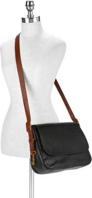 Fossil Harper Large Saddle Crossbody Black - Fossil Leather Handbags