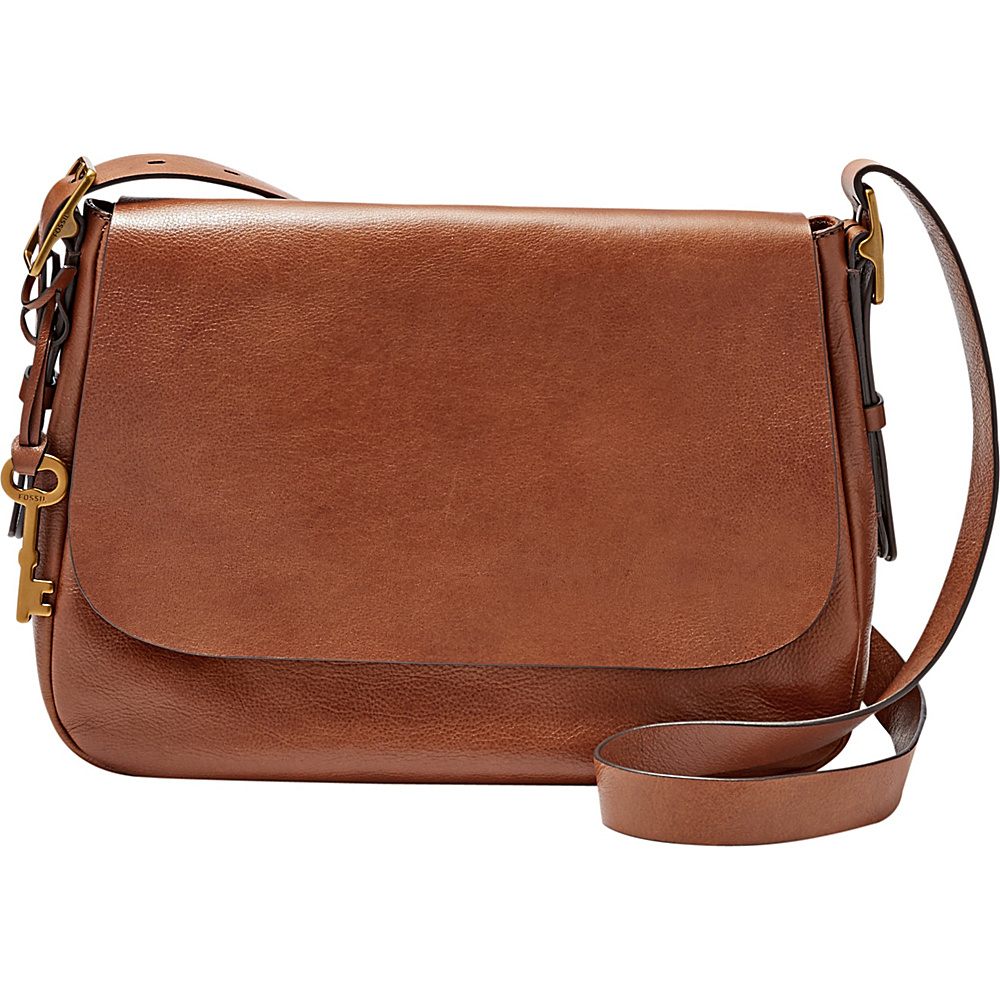 Fossil Harper Large Saddle Crossbody Brown - Fossil Leather Handbags - Handbags, Leather Handbags