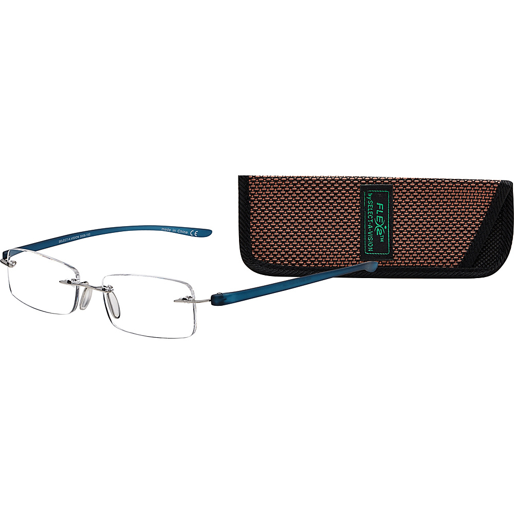 Select A Vision Flex 2 Reading Glasses 2.50 Blue Select A Vision Sunglasses