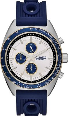 Chaps Rockton Silicone Chronograph Watch Blue - Chaps Watches