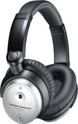 Audio Technica QuietPoint Active Noise-Cancelling Over-Ear Headphones Black - Audio Technica Headphones & Speakers