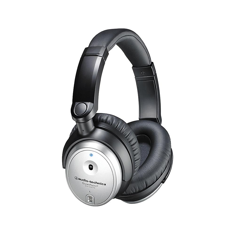 Audio Technica QuietPoint Active Noise Cancelling Over Ear Headphones Black Audio Technica Headphones Speakers