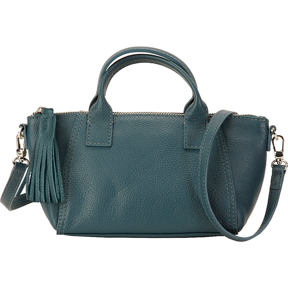Hadaki Mini Boat Bag Indian Teal - Hadaki Leather Handbags - Handbags, Leather Handbags