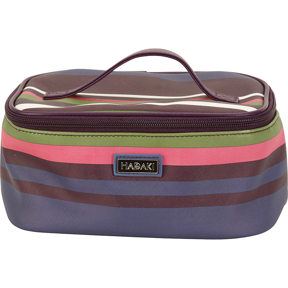 Hadaki Vegan Leather Train Case Stripes - Hadaki Womens SLG Other - Women's SLG, Women's SLG Other