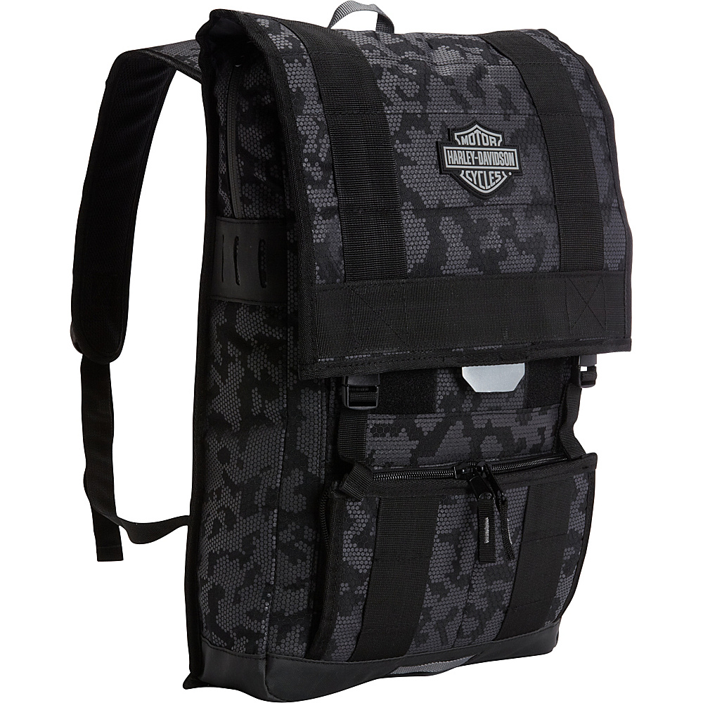 Harley Davidson by Athalon 24/7 Backpack Black night Vision - Harley Davidson by Athalon Everyday Backpacks