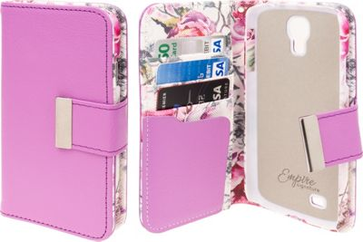 EMPIRE KLIX Klutch Designer Wallet Cases for Samsung Galaxy S4 Pink Faded Flowers - EMPIRE Electronic Cases