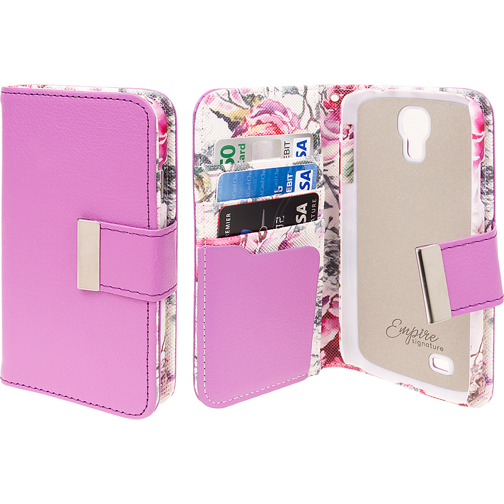 EMPIRE KLIX Klutch Designer Wallet Cases for Samsung Galaxy S4 Pink Faded Flowers EMPIRE Electronic Cases