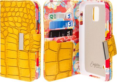 EMPIRE KLIX Klutch Designer Wallet Cases for Samsung Galaxy S4 Vintage Flower Pop! - EMPIRE Electronic Cases
