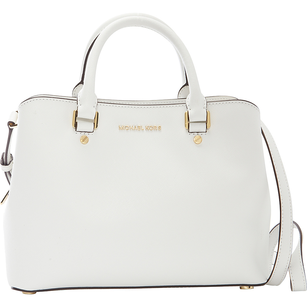 ddd020d7076b45 MICHAEL Michael Kors Savannah Medium Satchel Optic White - MICHAEL Michael  Kors Designer Handbags - 10411979 by MICHAEL Michael Kors