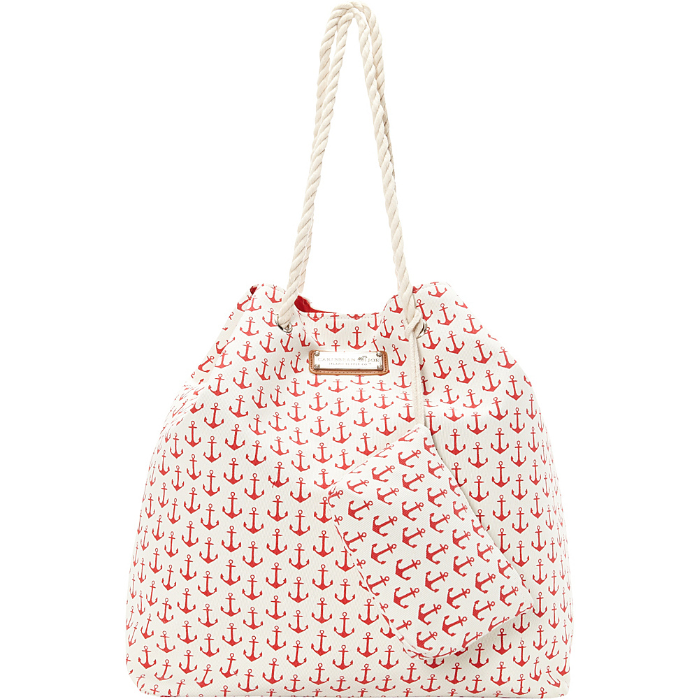 Sun N Sand Anchors Away Tote Red - Sun N Sand Fabric Handbags - Handbags, Fabric Handbags