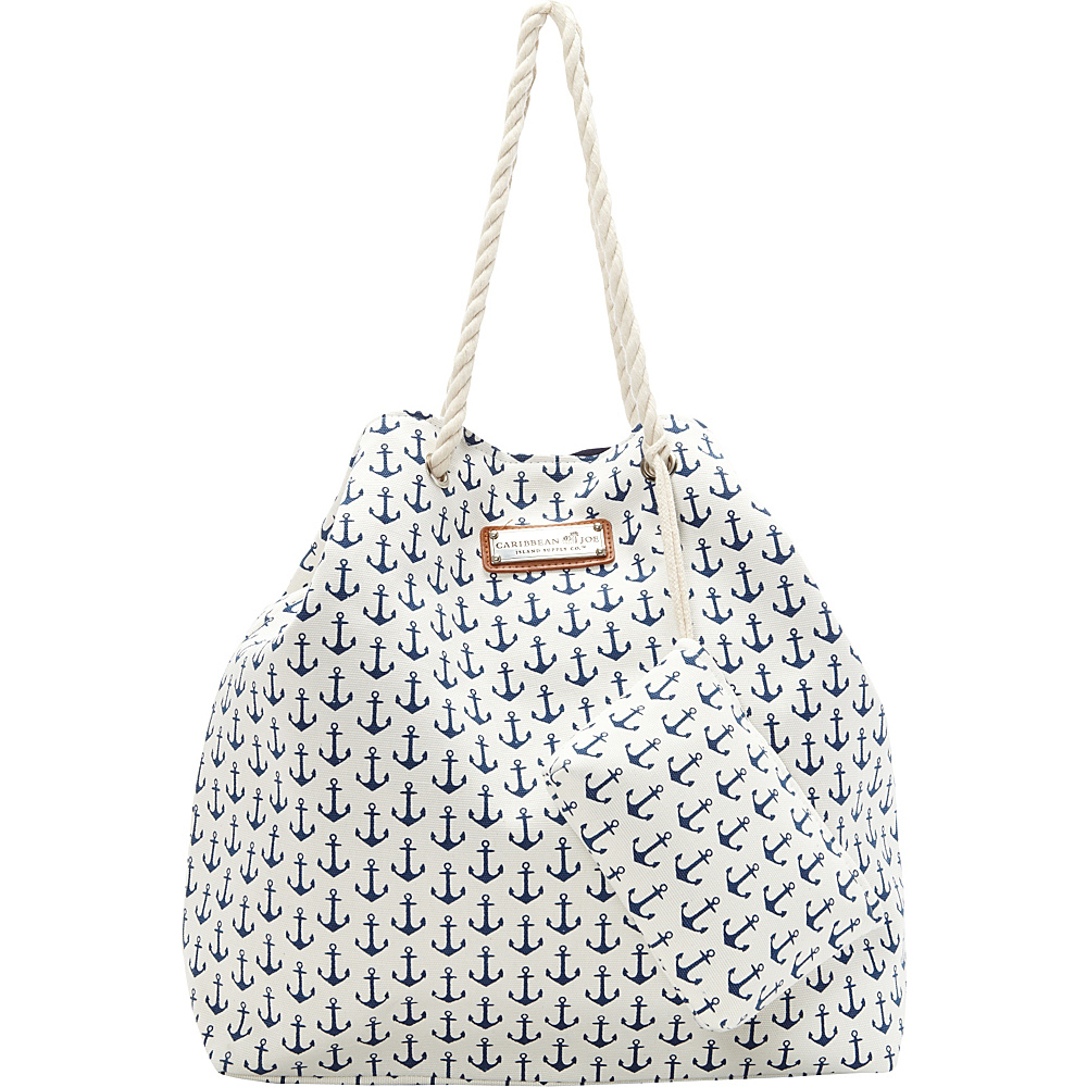 Sun 'N' Sand Anchors Away Tote Navy - Sun 'N' Sand Fabric Handbags