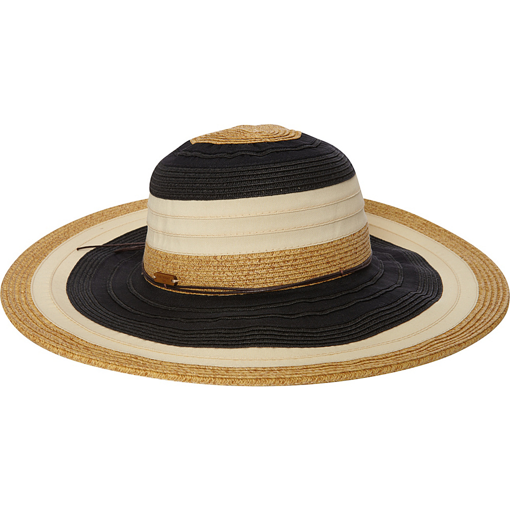 Caribbean Joe Accessories Montego Bay Hat Black - Caribbean Joe Accessories Hats/Gloves/Scarves