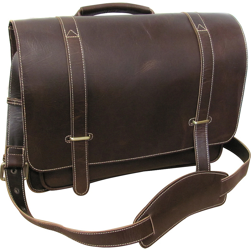 AmeriLeather Soeyer Messenger Bag Dark Brown AmeriLeather Messenger Bags
