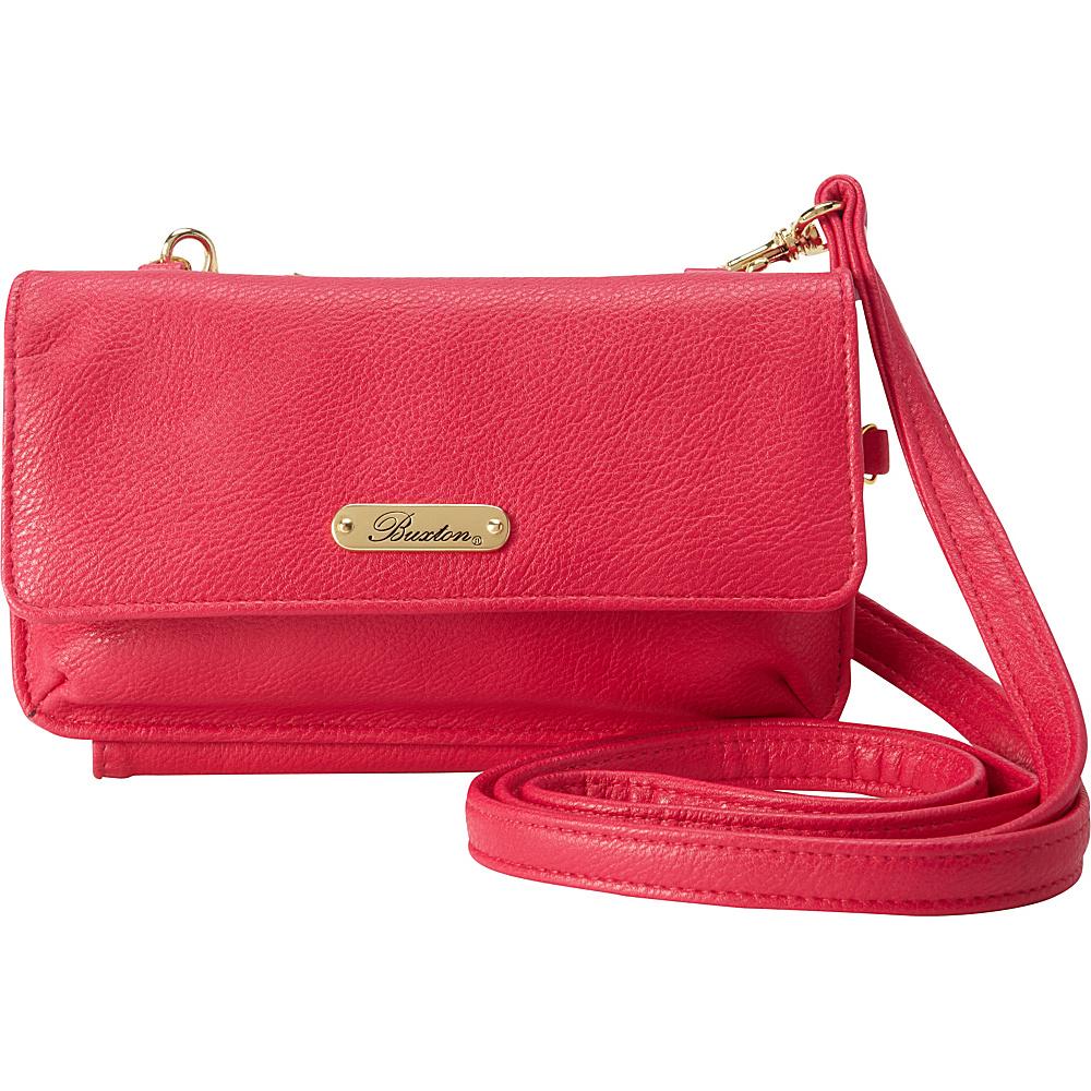 Buxton Mini Crossbody Fuchsia Pink - Buxton Manmade Handbags - Handbags, Manmade Handbags