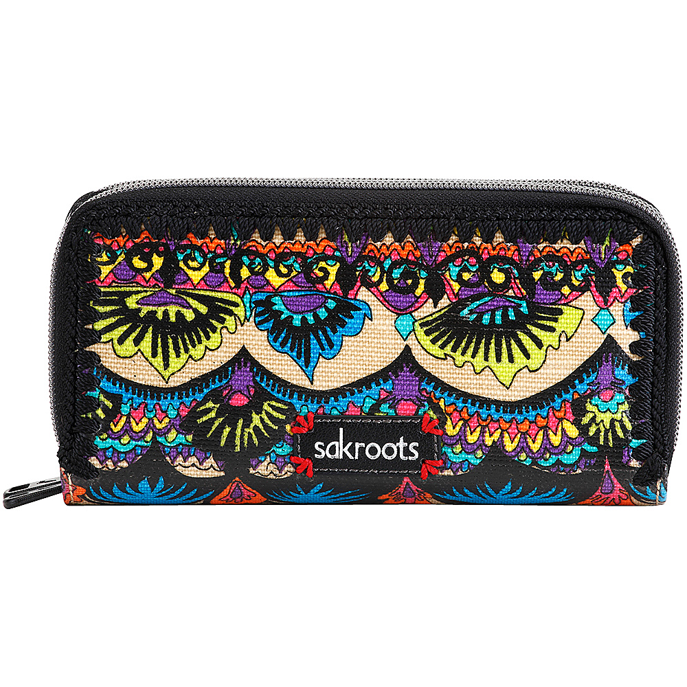 Sakroots Artist Circle Double Zip Wallet Radiant One World Sakroots Women s Wallets