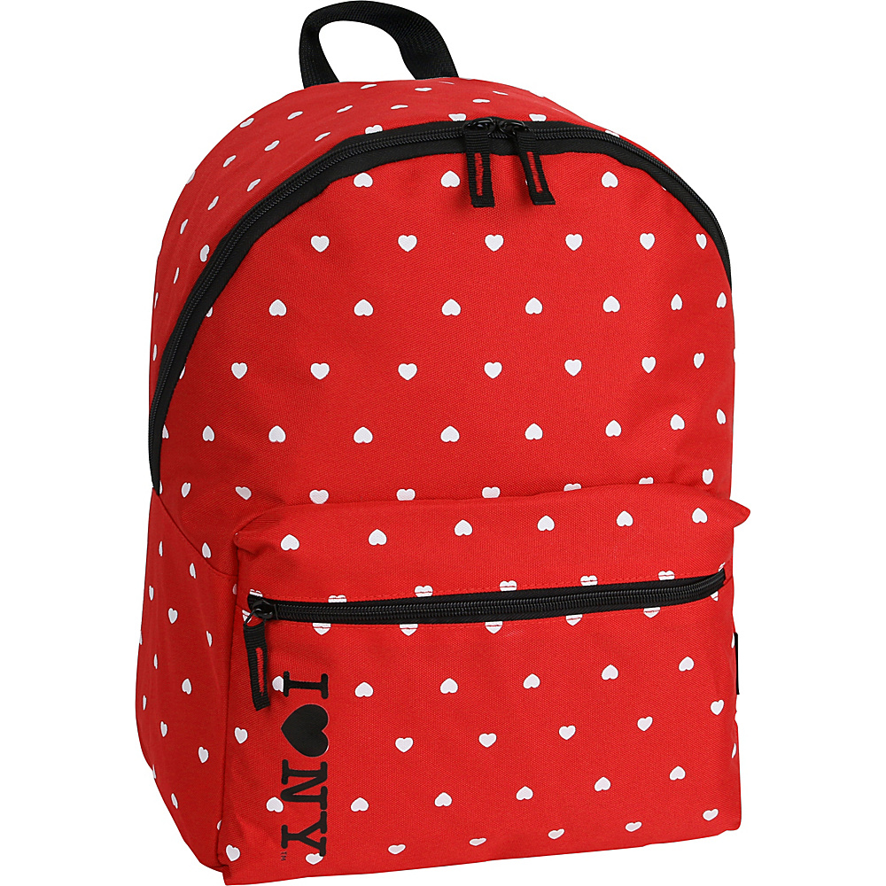 J World New York ILNY Heart Backpack Red - J World New York Everyday Backpacks - Backpacks, Everyday Backpacks