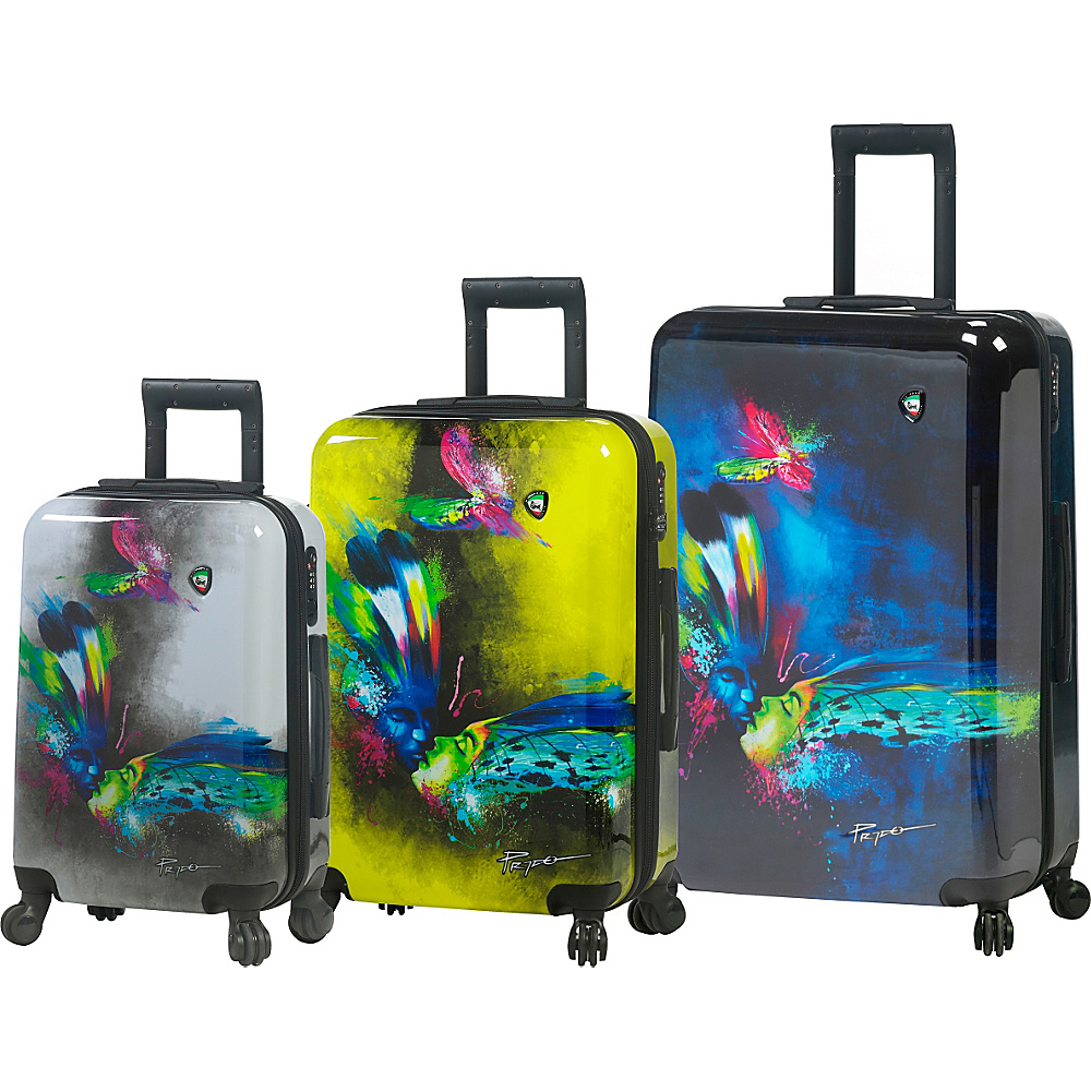 Mia Toro ITALY Prado Butterfly Kiss Luggage Set Multicolor Mia Toro ITALY Luggage Sets