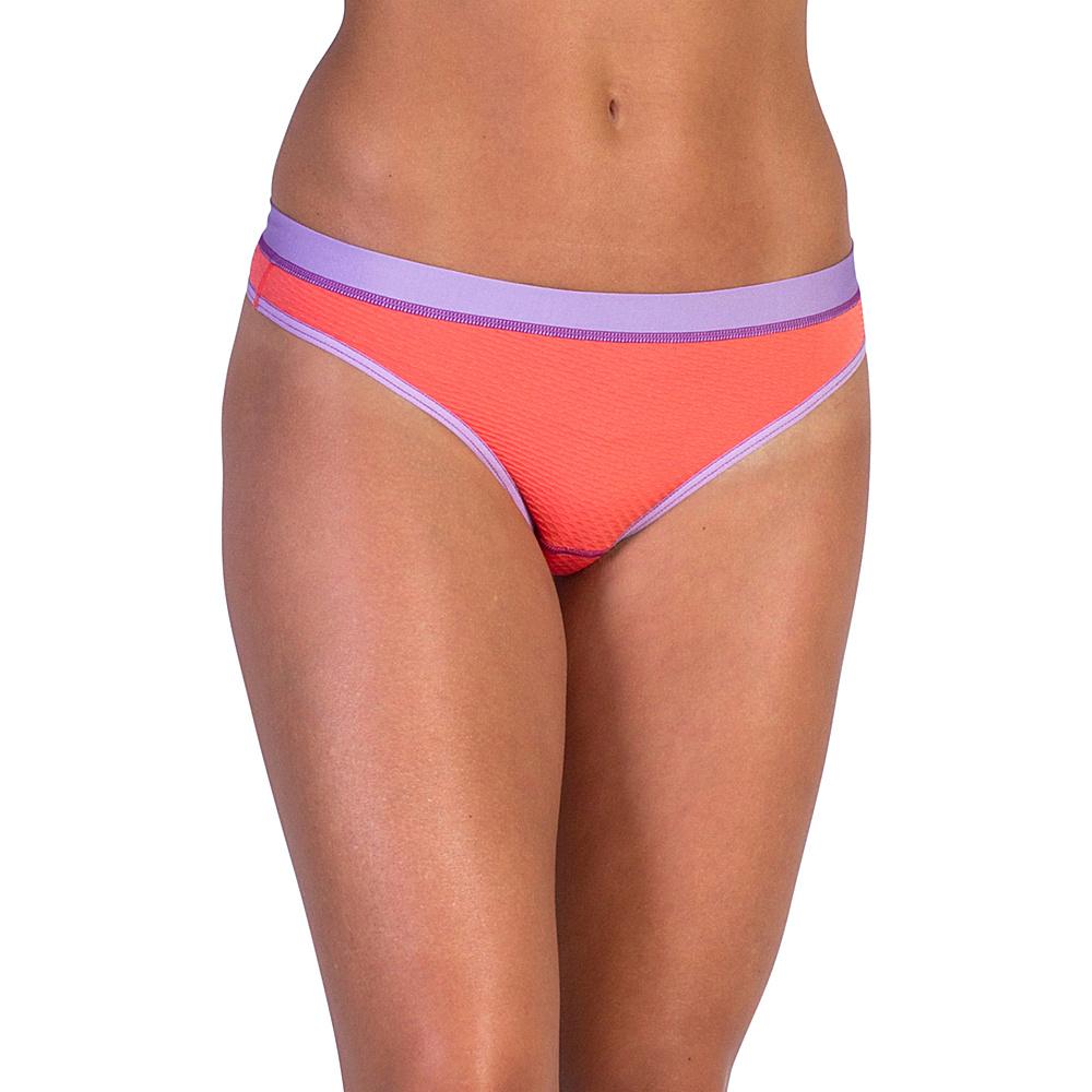 ExOfficio Give-N-Go Sport Mesh Thong XS - Hot Coral - ExOfficio Womens Apparel - Apparel & Footwear, Women's Apparel