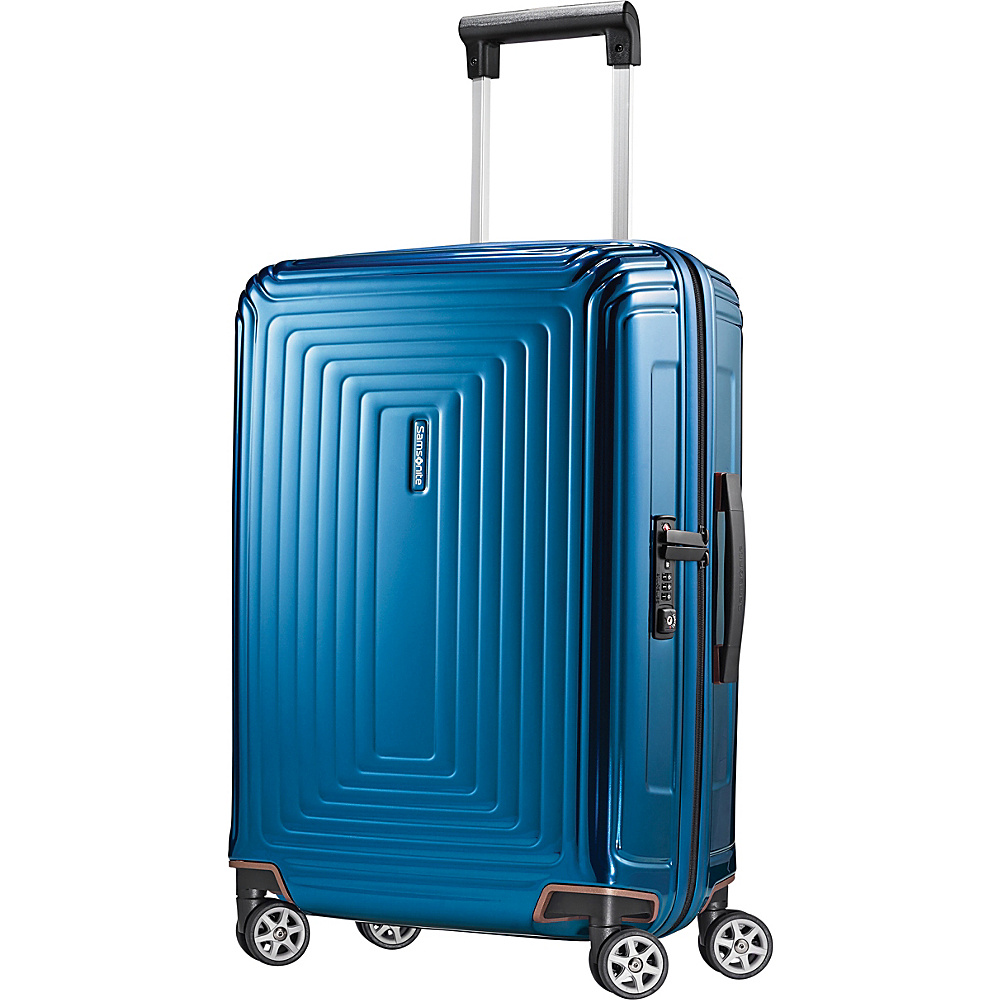 Samsonite Neopulse Hardside Spinner 20 Metallic Blue Samsonite Hardside Carry On