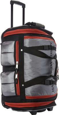 Harley Davidson by Athalon 21 inch Wheeling Carry-On Grey/Black - Harley Davidson by Athalon Rolling Duffels