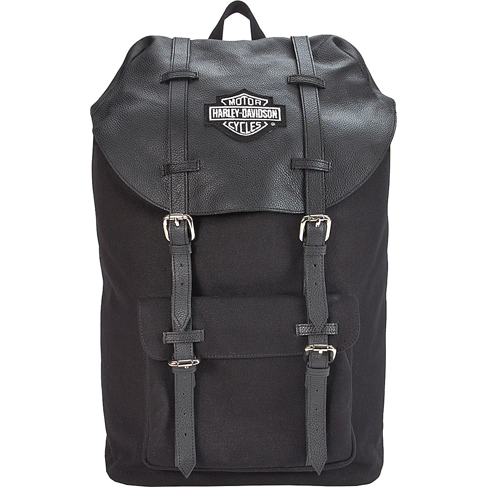 Harley Davidson by Athalon Leather Thoroughbred Backpack Black Harley Davidson by Athalon Everyday Backpacks