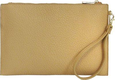 JNB Casual Wristlet Beige - JNB Manmade Handbags
