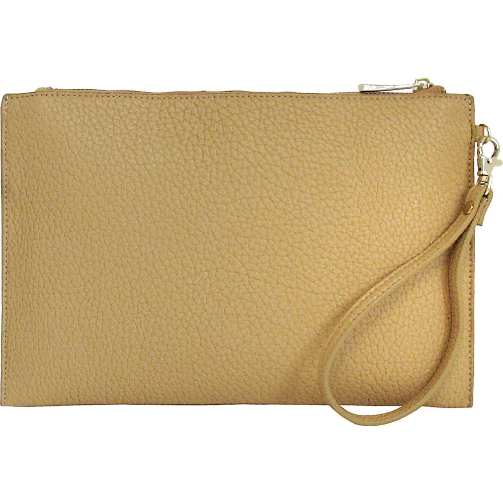 JNB Casual Wristlet Beige JNB Manmade Handbags