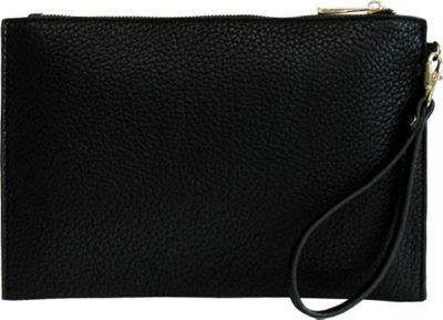 JNB Casual Wristlet Black - JNB Manmade Handbags