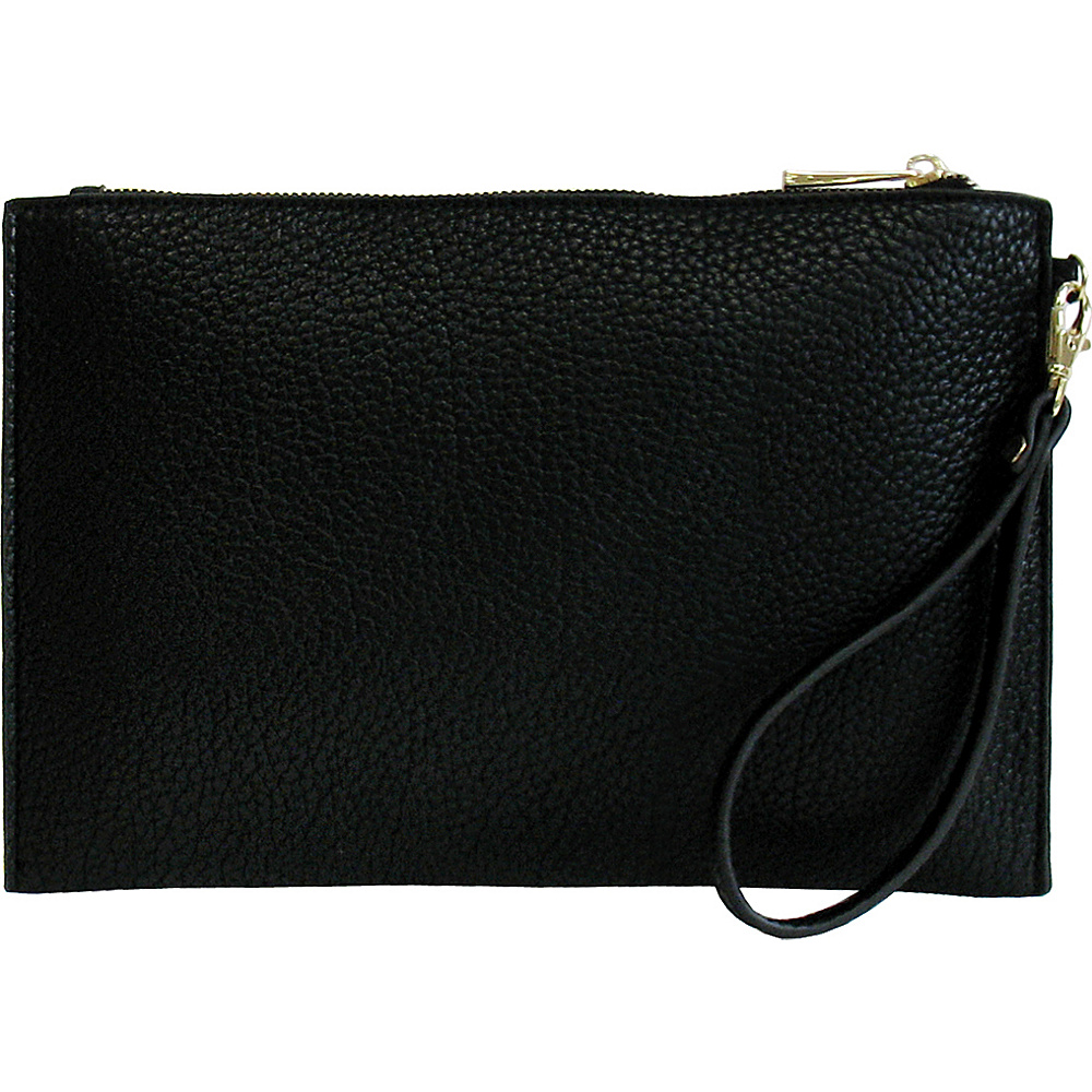 JNB Casual Wristlet Black JNB Manmade Handbags