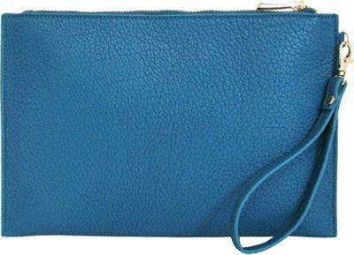 JNB Casual Wristlet Blue - JNB Manmade Handbags