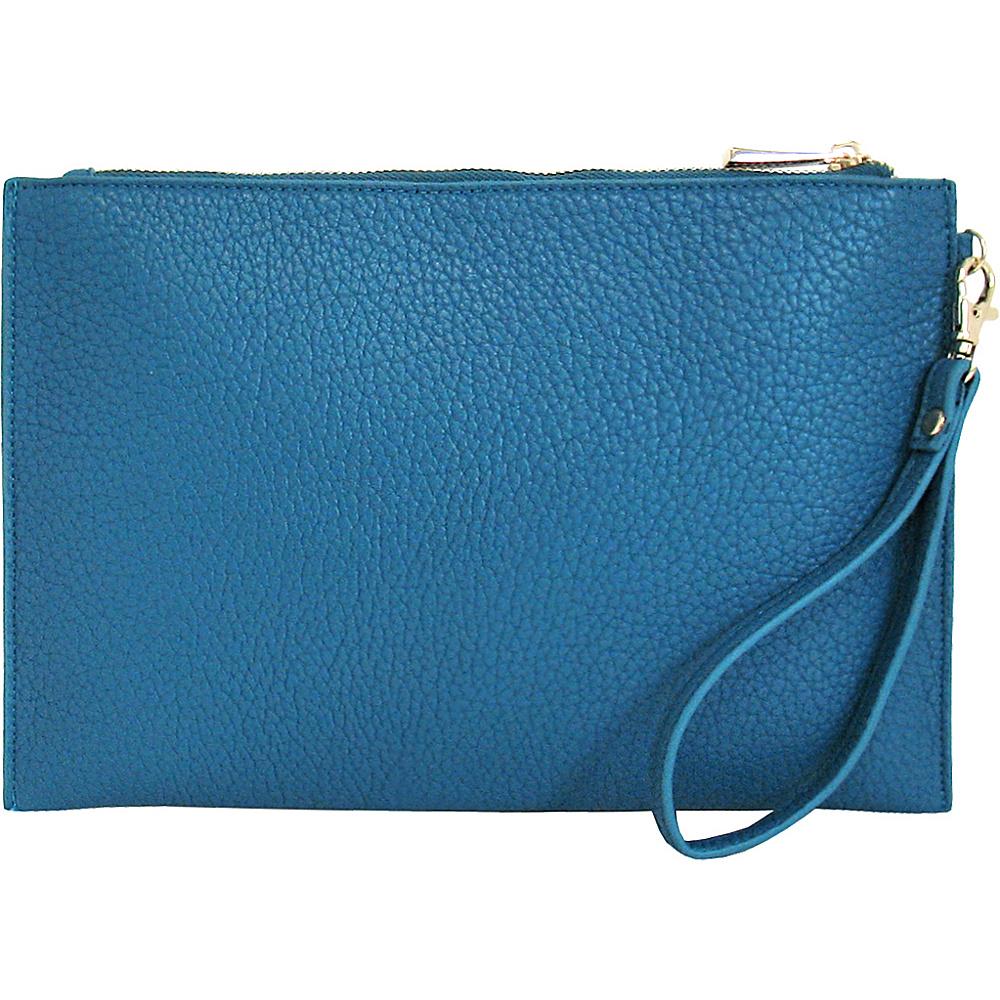 JNB Casual Wristlet Blue JNB Manmade Handbags